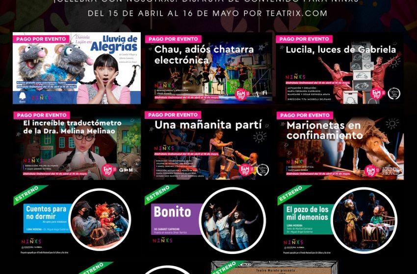 Teatrix celebra Abril el mes de los niños con mucho teatro